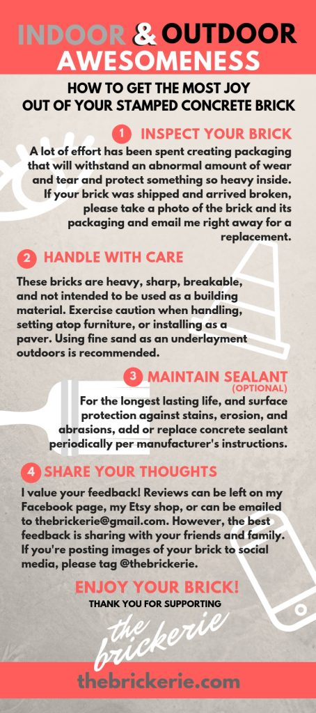care instructions for your brick