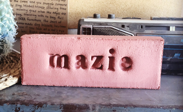 mazie stamped pet memorial