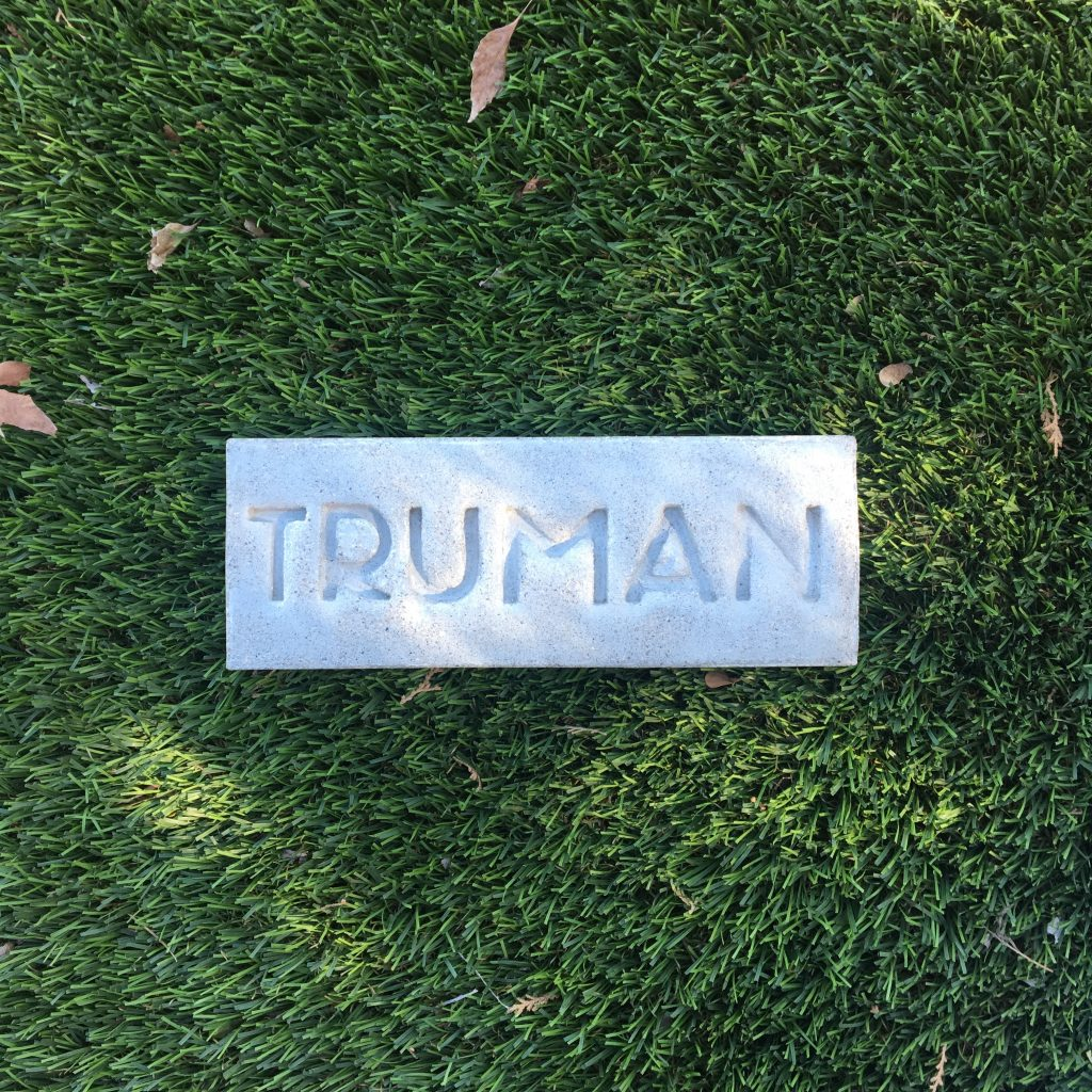 truman stamped brick pet memorial